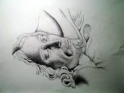 La Pieta Jesus Print by Heather Calderon
