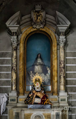 La Pieta Statue Print by Adrian Evans