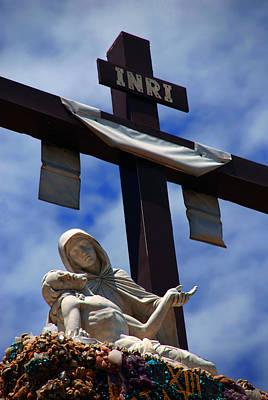 Inri Photograph - La Pieta by Susanne Van Hulst
