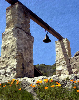 Floral Photograph - La Purisima Mission Bell Tower by Kurt Van Wagner