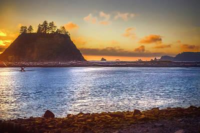 Sunset Photograph - La Push 1st Beach Forks Washington by Marci Potts