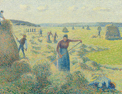 The Harvesting Of Hay Eragny  Print by Camille Pissarro