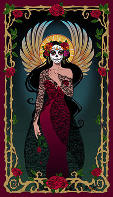Roses Digital Art - La Rosa by Cristina McAllister