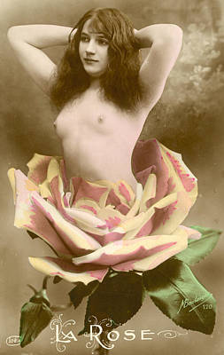 Sexy Naked Girls Photograph - La Rose by French School