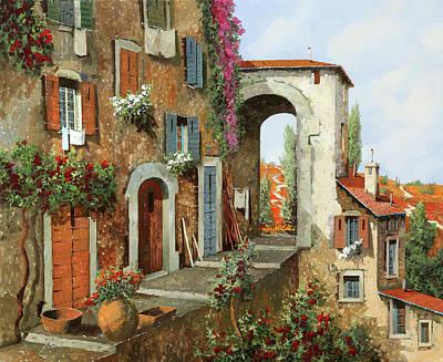 Painting - La Stradina Tra I Campi Rossi by Guido Borelli