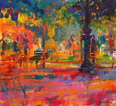 La Terrasse Du Jardin Print by Peter Graham