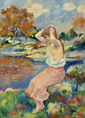 Pierre-auguste Renoir Painting - La Toilette by Pierre-Auguste Renoir
