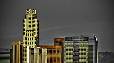 Los Angeles Skyline Photograph - La Tops by Chris Brannen