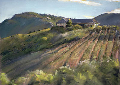Pastel Painting - La Vierge Winery by Christopher Reid