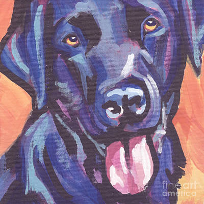 Puppy Painting - Lab Love by Lea S