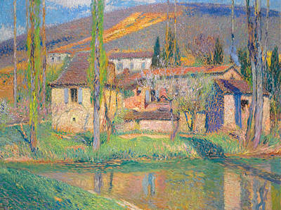 Henri Martin Painting - Labastide-du-vert by Henri Martin