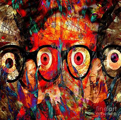 Yesayah Painting - Label The Brain Through The Eyes - Lords Of Madness by Fania Simon