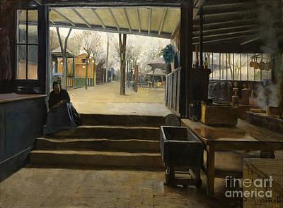 1890 Houses Painting - Laboratory Of La Galette  by Santiago Rusinol