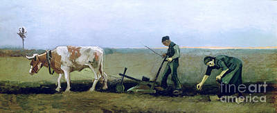 Farm Fields Painting - Labourer And Peasant  by Vincent van Gogh