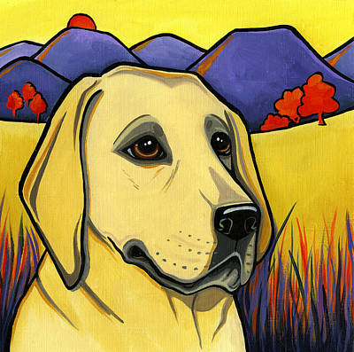 Golden Labrador Painting - Labrador by Leanne Wilkes