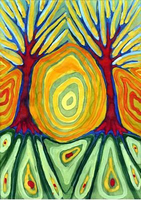 Vivid Colour Painting - Labyrinth by Wojtek Kowalski
