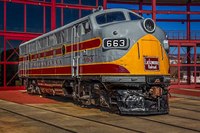 Lackawanna 663 Railroad Train Print by Susan Candelario