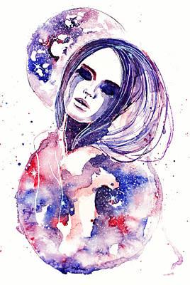 Tear Drawing - Lacrima Nebula  by Alexandra-Emily Kokova