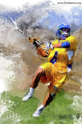Lacrosse Painting - Lacrosse by Akol Jayjay
