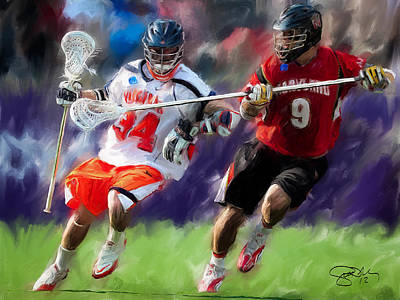 Scott Melby Painting - Lacrosse Close D by Scott Melby
