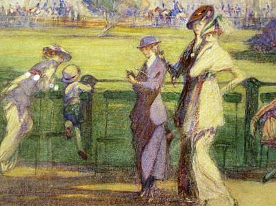 Hyde Park Painting - Ladies Of Fashion In Hyde Park by Claude Allin Shepperson