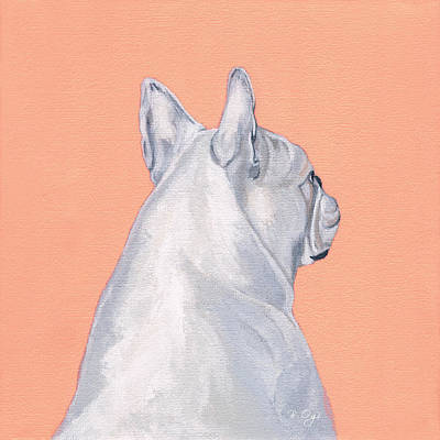 Bulldogs Painting - Lady by Brian Ogi