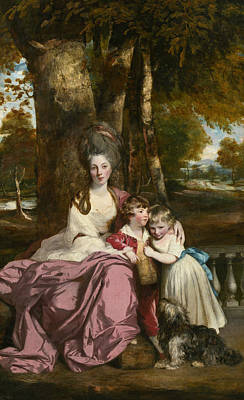 18th Century Painting - Lady Elizabeth Delme And Her Children by Joshua Reynolds