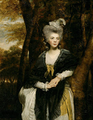 18th Century Painting - Lady Frances Finch by Joshua Reynolds
