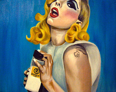 Pop Culture Painting - Lady Gaga Commission by Emily Jones
