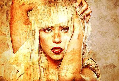 Lady Gaga Print by Jose Espinoza