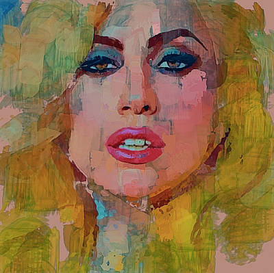 Lady Gaga Portrait Print by Yury Malkov