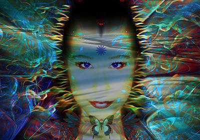 Gaia Digital Art - Lady Gaia by Snook R