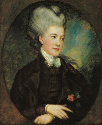 18th Century Painting - Lady Georgiana Poyntz Countess Spencer by Thomas Gainsborough