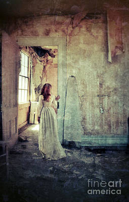 Haunted House Photograph - Lady In An Old Abandoned House by Jill Battaglia