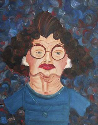 Suzanne Marie Leclair Painting - Lady In Blue by Suzanne  Marie Leclair