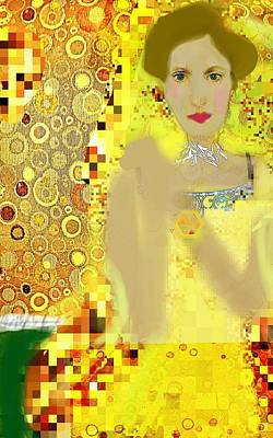 Lady In Gold Whimsy  Original by ARTography by Pamela Smale Williams