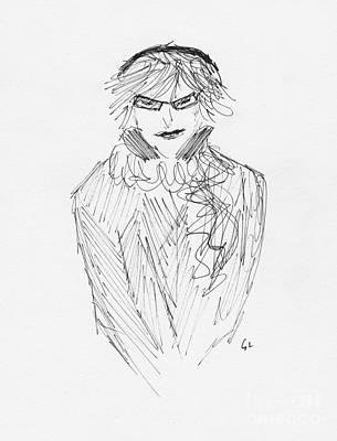 Lady In Specs Print by S Lloyd