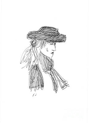 Lady In The Hat Print by S Lloyd