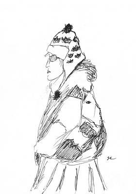 Lady In Winter Print by S Lloyd