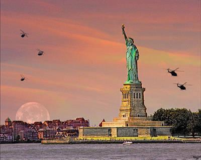 Liberty Island Digital Art - Lady Liberty by Chris Lord