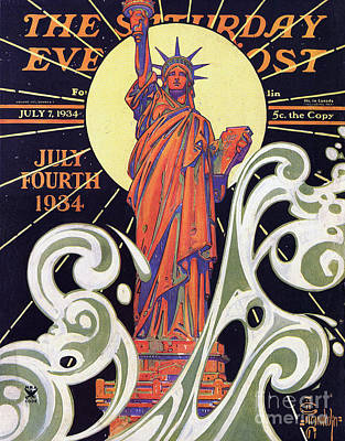 Liberty Painting - Lady Liberty by MotionAge Designs