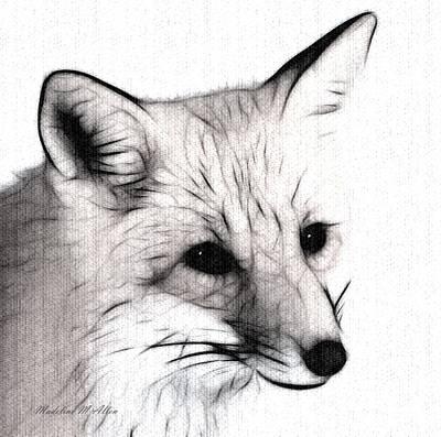 Fox Digital Art - Lady by Madeline  Allen - SmudgeArt