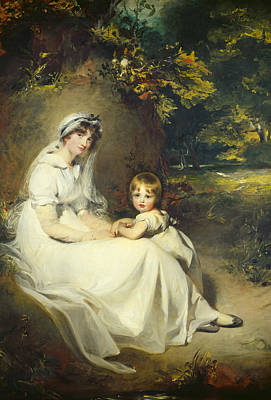 Full-length Portrait Painting - Lady Mary Templetown And Her Son by Sir Thomas Lawrence