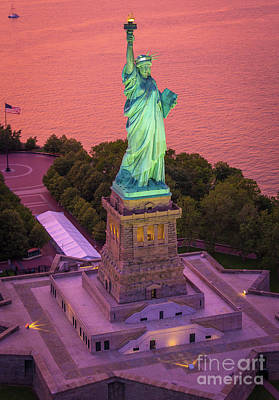 Lady Of Liberty Print by Inge Johnsson