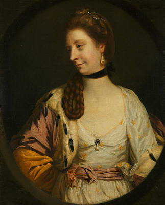 18th Century Painting - Lady Sondes by Joshua Reynolds