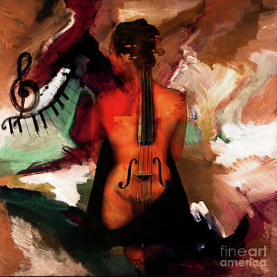 Lady Violin 01 Original by Gull G