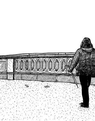 Lady Walking Print by Karl Addison