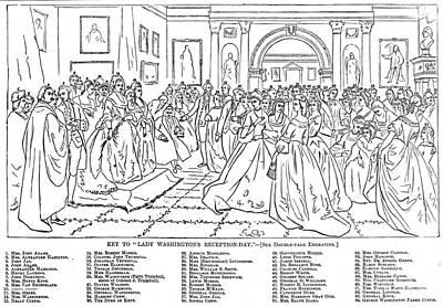 Washington D.c Drawing - Lady Washington's Reception by Granger