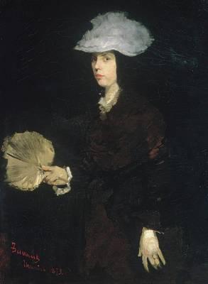 Cincinnati Ohio Painting - Lady With Fan by Frank Duveneck