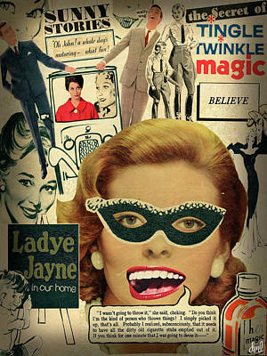 Outrageous Mixed Media - Ladye Jayne by Darci Megan Lawless